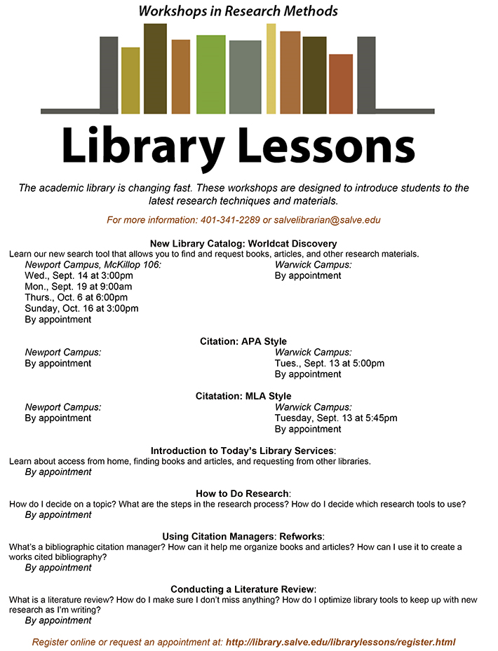 Request Library Lessons Fall 2016