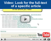 Video tutorial: Find a specific article