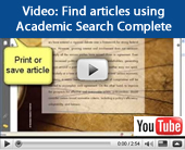 Video tutorial: Find articles using Academic Search Complete
