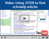 Video tutorial: Using JSTOR to find scholarly articles