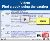 Video tutorial: Find a book using the catalog
