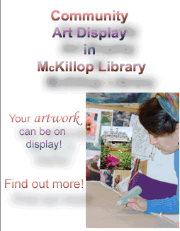 Display your artwork in the library