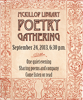 Poetry Gathering 2013