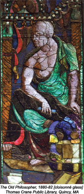 The Old Philosopher, 1880-82, cloisonné glass
