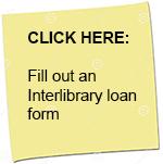 Interlibrary loan form