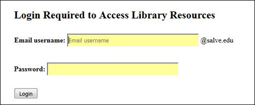 McKillop Library - Off-Campus Access
