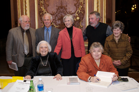 Claire Quintal, Sister Eugena Poulin and members of the Alliance Fran�aise