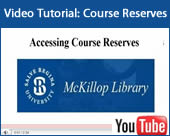reserves video tutorial